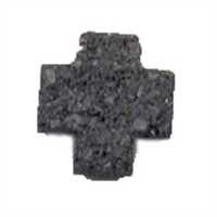 Cross Lava drilled, 15mm