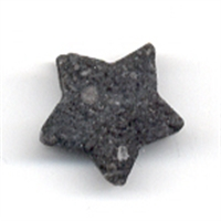 Star Lava drilled, 15mm