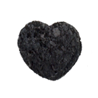 Heart Lava drilled, 15mm