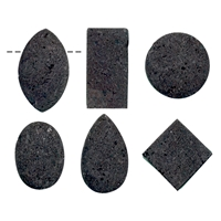 Cabochon Set Lava drilled (6 pc/VE)