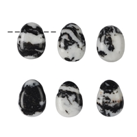 Tumbled Stone Zebra Marble drilled