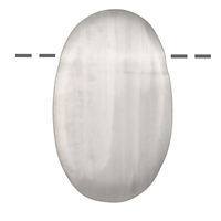 Lense Stone Selenite drilled