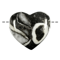 Heart Fossil Chalk drilled, 4,5cm