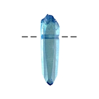 Rough Crystal Aqua Aura drilled, appr. 3,5cm