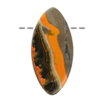 Cabochon Navette Eclipse (stab.) drilled, appr. 4cm