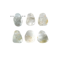 Tumbled Stone Topaz white drilled, appr. 2cm