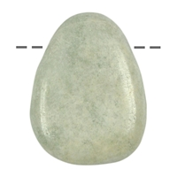 Tumbled Stone Jade (Burma) drilled