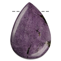 Cabochon Drop Stichtite A drilled., appr. 5,5 - 6,0cm