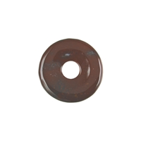 Donut Chalcedony (red-brown), 30mm