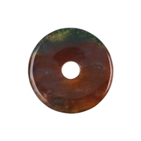 Donut Chalcedony (red-brown), 40mm