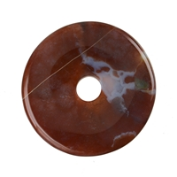 Donut Chalcedony (red-brown), 50mm
