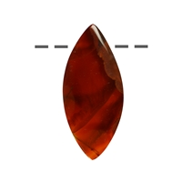 Cabochon Navette Agate (Condor) drilled, appr. 3,5 - 5,0cm