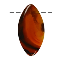 Cabochon Navette Agate (Condor) drilled, 4,5 - 6,0cm
