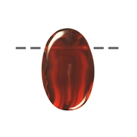 Cabochon Oval Achat (Condor) gebohrt, 3,0 - 4,0cm