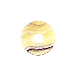 Donut Fluorite yellow striped, 30mm
