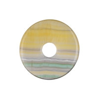 Donut Fluorite yellow striped, 40mm