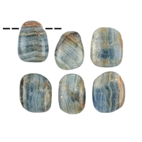 Tumbled Stone Aragonite (blue) drilled