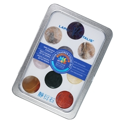 Chakra Set large (9 stones), in gift box