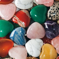 Pocket Heart, mixed Stones, 3,5cm (36 pc/VE)