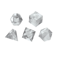 Platonic Solids, Rock Crystal, app. 3cm