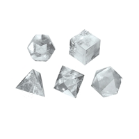 Platonic Solids, Rock Crystal, app. 2cm