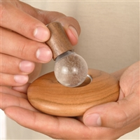 JOYA Classic birchwood with rock crystal massage sphere