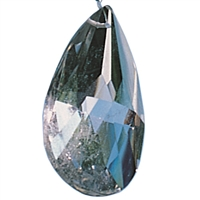 Lightcrystal Drop (faceted Rock Crystal), 45mm