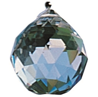 Lightcrystal Sphere (faceted Rock Crystal), appr. 20mm, with Nylon thread