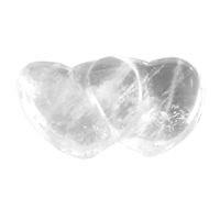 Double Heart Rock Crystal, 10cm, in Giftbox