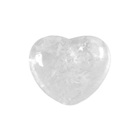 Puffy Heart, Rock Crystal, 4,5cm