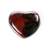 Puffy Heart, Carnelian (heated), 5,5cm