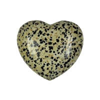 Puffy Heart, Dalmatian Stone, 5,5cm