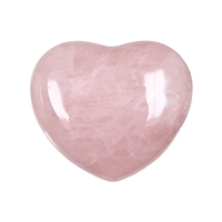 Puffy Heart, Rose Quartz, 5,5cm