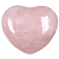 Puffy Heart, Rose Quartz, 6,5cm