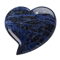 Heart extra large, Sodalite A, 10cm
