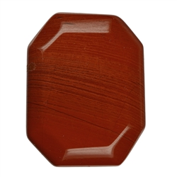 Angular Flat stone Jasper (red)