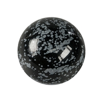 Massage Sphere Obsidian (Snowflake) in Giftbox, 04cm