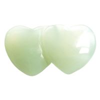"Double Heart Serpentine (""China Jade""), 04,3cm (6 pc/VE)"