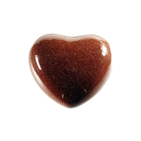 Puffy Heart, Sandstone brown (synt.), 4,5cm