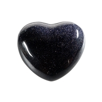 Puffy Heart, Sandstone blue (synt.), 5,5cm