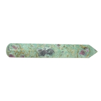 Massage Wand Fuchsite with Disthene and Ruby