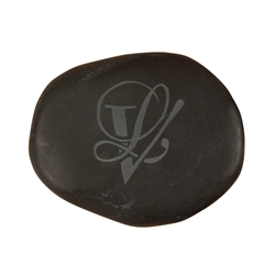 Hot Stone size 5 (extra large, appr. 8,0 - 9,0 cm) with engraved logo