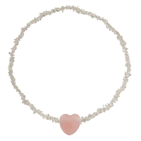 "Crystal Harmony Band ""Love"" with Rosequartz Heart"