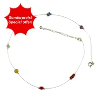 "Chakra Collier ""Wire"", 42cm (plus 6cm extension chain)"