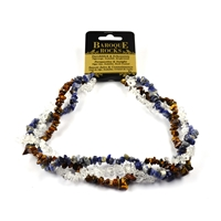"Collier Baroque Combi Tiger's Eye, Sodalite, Rock Crystal ""Perspective & Insight"", 3 strings"