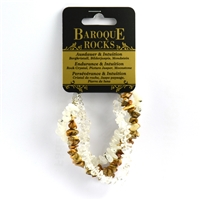 "Bracelet Baroque ""Endurance & Intuition"", three strings
