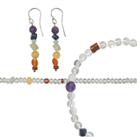 "Set Chakra Jewelry ""Crystal""