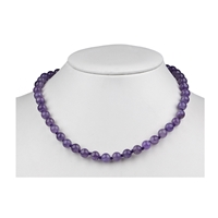 Necklace Beads, Amethyst, 08mm/45cm