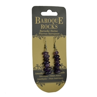 "Earrings Baroque Classic Amethyst ""Innner peace"", 1 string"