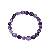 Armband, Amethyst, 10 - 12mm  Nuggets
